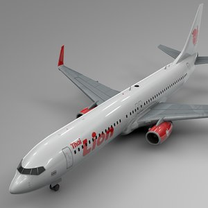 3D model lion air boeing 737-800