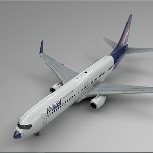 3D malev hungarian airlines boeing