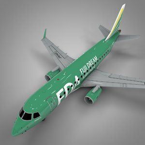 fuji dream ja04fj embraer170 3D