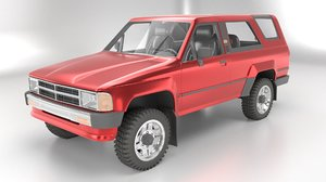 3D 1986 toyota hilux 4runner model