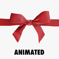 ribbon bow unwrap animation 3D model