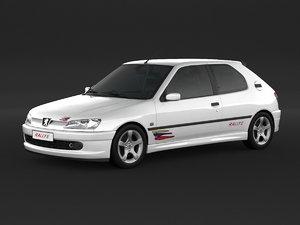 peugeot 306 rally 3D model