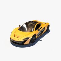3D mclaren p1 car
