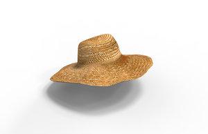3D women hat model