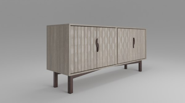 soho riviera cabinet 3D model