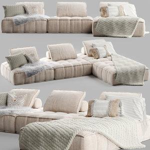 collins sofa uniqwa 3D model