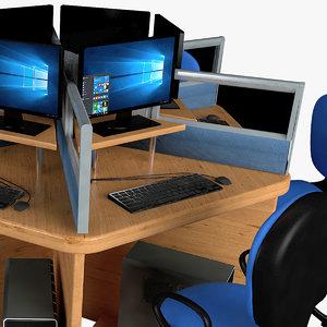 3D model office partition