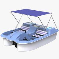 3D model pedal boat 2 seats