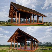 asian pavilion 3D