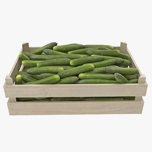cucumbers 03-04 wooden crate 3D model