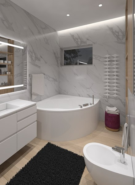 3D model bathroom wc