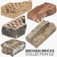 broken bricks 02 3D
