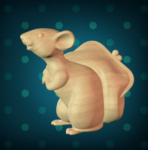 rat wallet 3D model