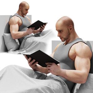 man read 3D