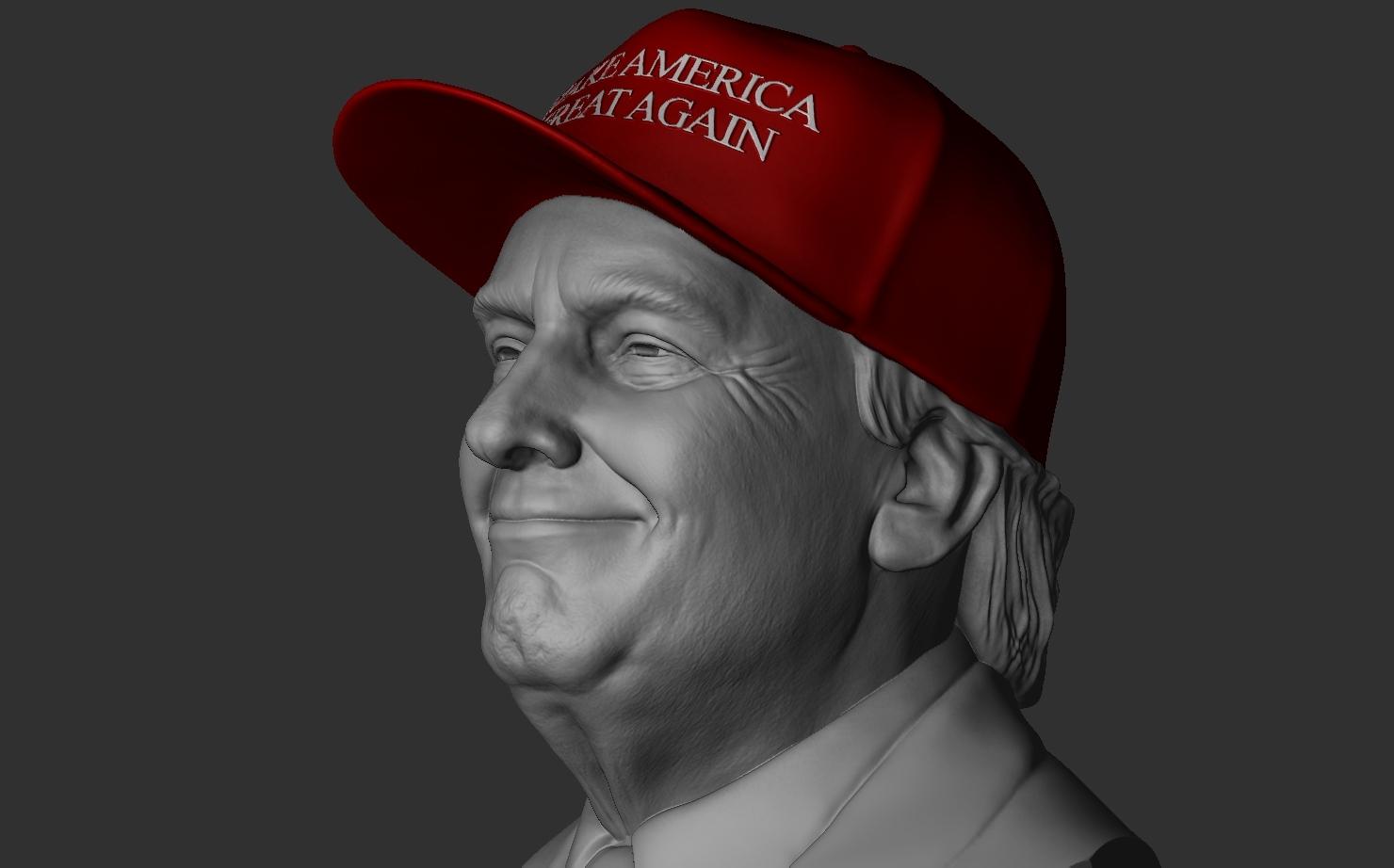 3D donald trump -