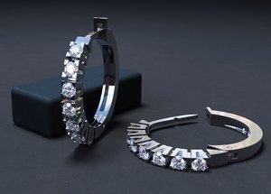 jewellery earrings diamonds 3D model