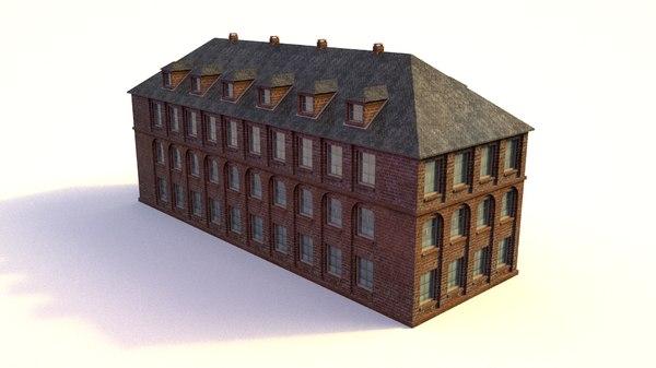3D school office building