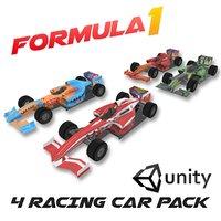 Formula 1 Racing Cars Pack 3D Model