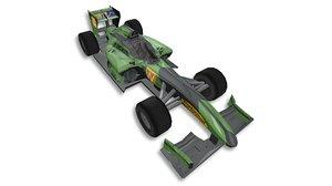 pack formula 1 racing cars 3D model