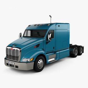387 tractor flattop 3D model