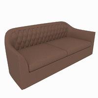 3D leather sofa smania