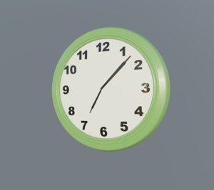 green clock 3D model