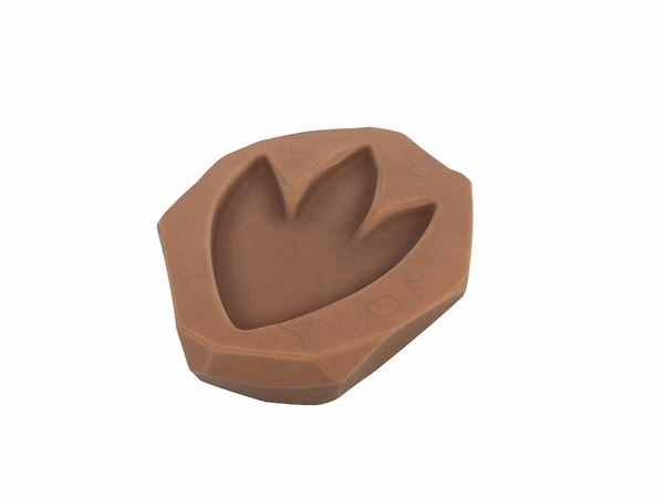 dinosaur footprint fossil 3D model