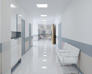 3D model realistic hospital