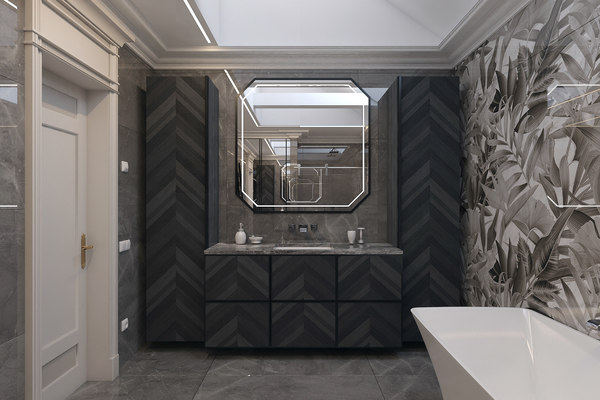 3D bathroom interior scene model