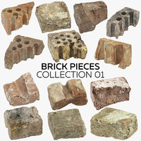 3D brick pieces 01 -