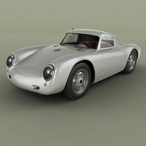 1956 porsche 550 coupe 3D model