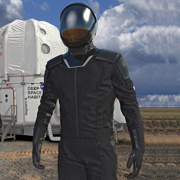 sci fi astronaut black model
