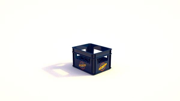 beer crate 3D