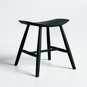 johansson j63 stool fredericia 3D model
