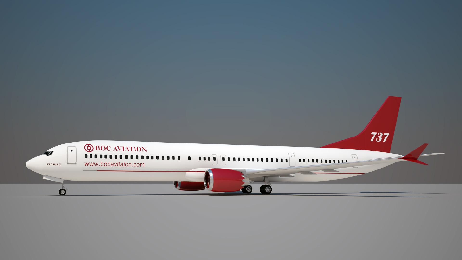 boc aviation boeing 737 3D