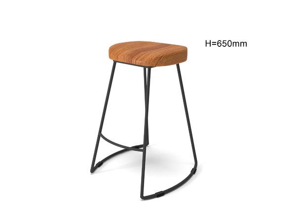 3D seating stool barstool model