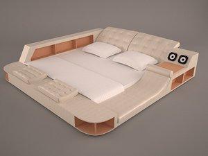 3D bed massage model