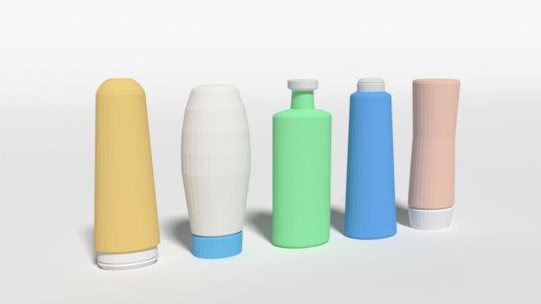 3D shampoo shower gel bottles