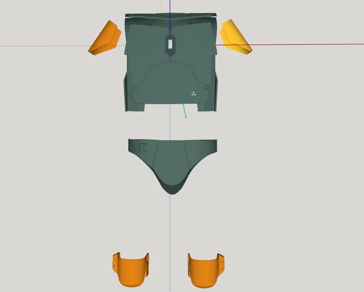 armor boba fett 3D