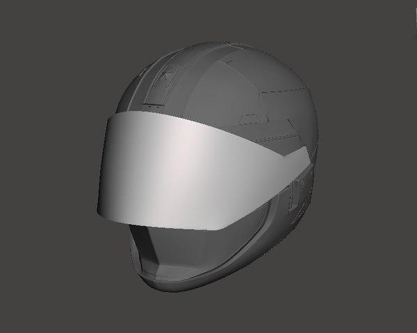 3D kidou keiji jiban helmet model