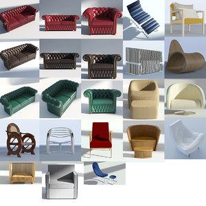 sofa furniture chair 3D