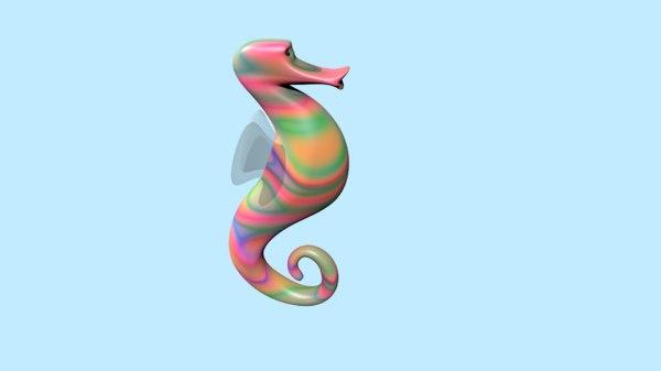 3D sea horse
