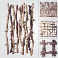 branch decor tree 3D model