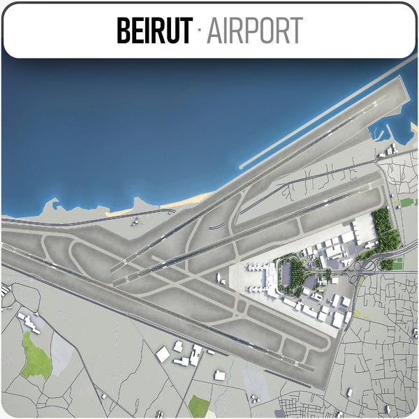 beirutrafic hariri international airport 3D model