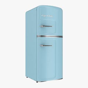 3D model big chill slim fridge
