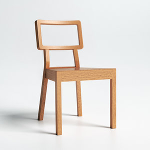 cordoba chair ton armless 3D model