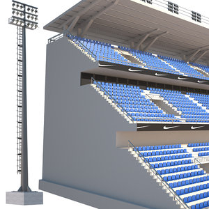 3D tribune stadium light model