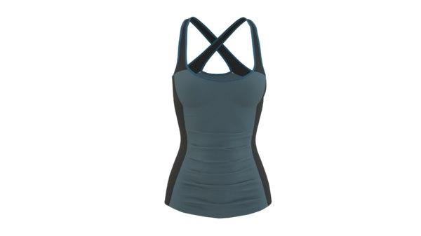 3D x-back shirt