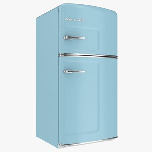 big chill original fridge 3D model