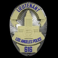 Printable LAPD Badge